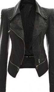 Jackets & Blazers - Black leather jacket like new conditions.